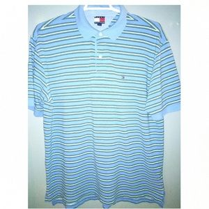 Tommy Hilfiger men's XL polo style shirt flag logo